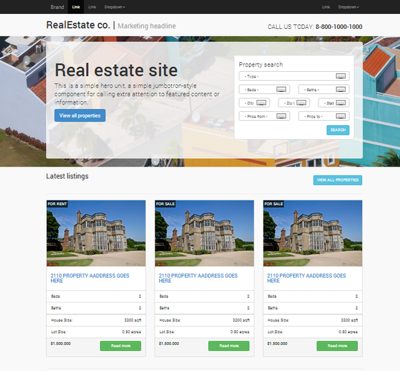 Real Estate Responsive Bootstrap