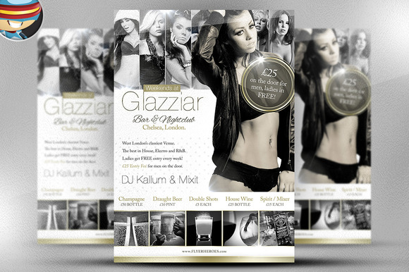 Glazziar Bar Flyer Template