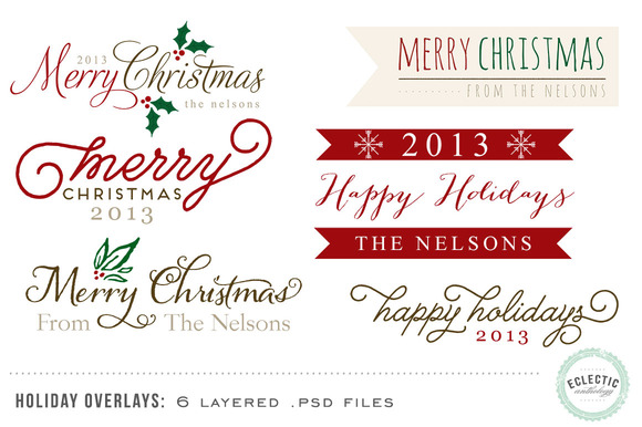 Holiday Overlays - Layered .psd file - Objects