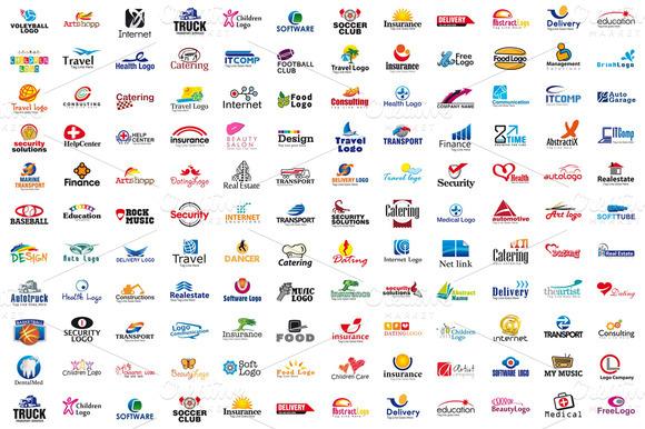 Vol.2 200 Fully Customizable Logos
