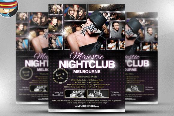 Majestic Nightclub Flyer Template