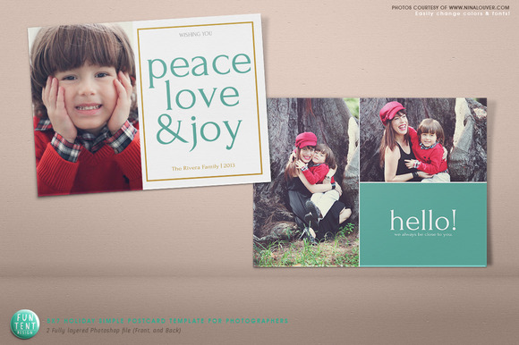 5x7 Simple Photography Holiday Card
