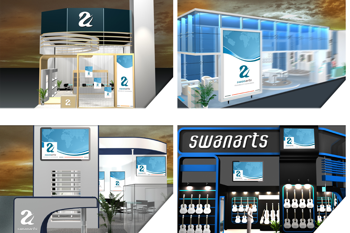 Exhibition Stand Design Mockup : Preview o g
