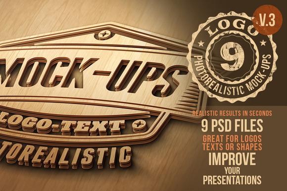 Photorealistic Logo Mock-Ups Vol.3 - Product Mockups