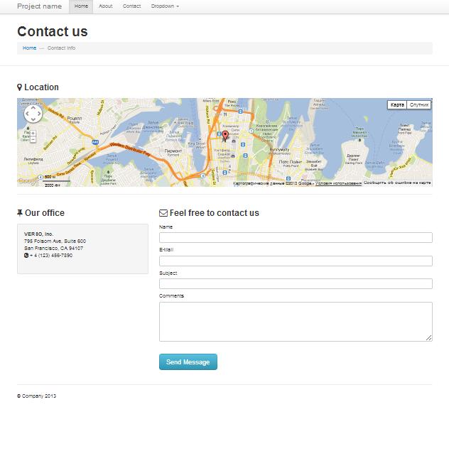 bootstrap 2 3 starter kit website templates on creative market. Black Bedroom Furniture Sets. Home Design Ideas