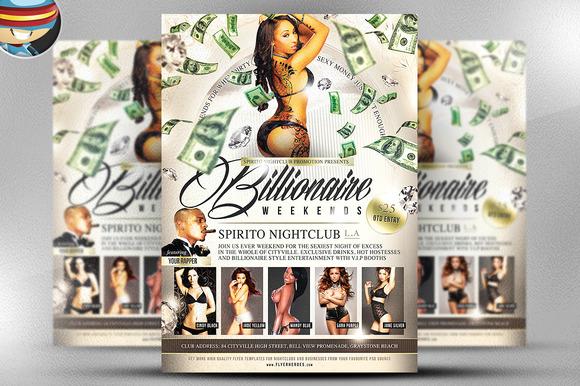 Billionaire Weekends Flyer Template