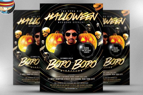 Halloween BoroBoro Flyer Template
