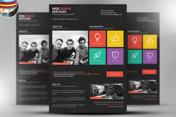 Metro Style Web Designer Flyer