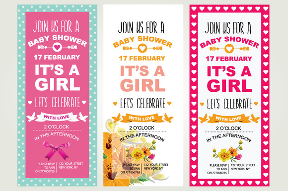 3 Baby Shower Invitations