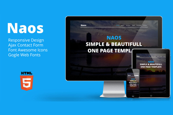 Naos Responsive One Page Template