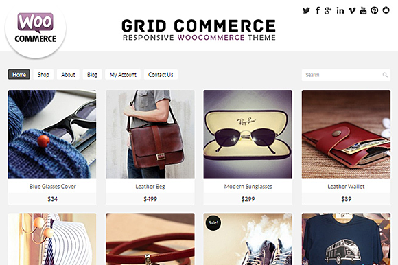 Grid Commerce – Woocommerce  Theme