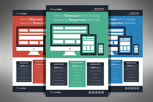 Flat Web Design Flyer