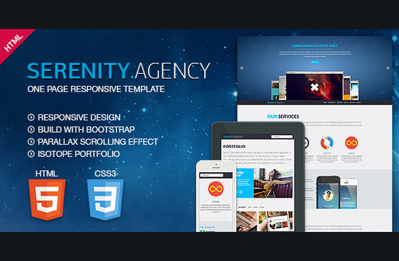 Serenity Agency One Page Responsive