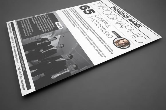 Typographic Corporate Flyer