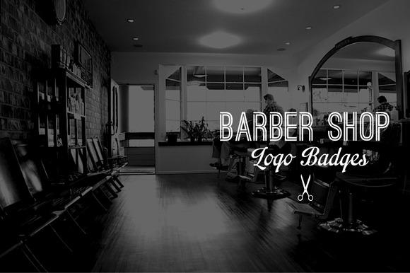 Vintage Logo Badges Barber Shop