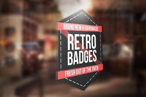 Colored Retro Badges