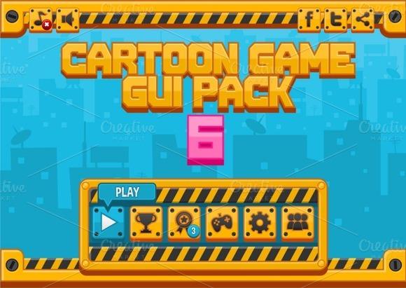 Cartoon Games GUI Pack 6