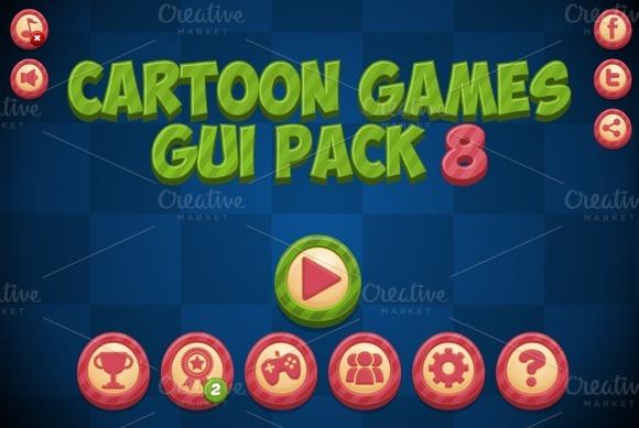 Cartoon Games GUI Pack 8