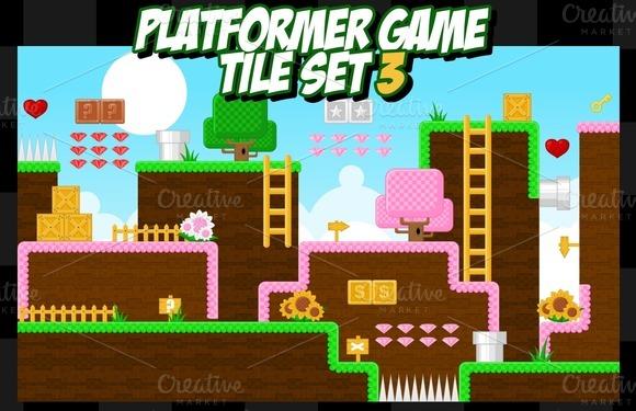 Platformer Game Tile Set 3