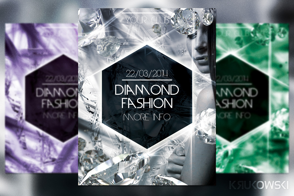 Diamond Fashion Flyer Flyer Templates On Creative Market