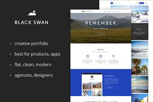 Black Swan Portfolio Template(PSD)