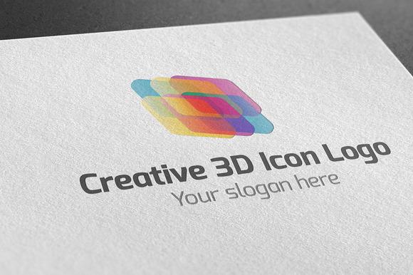Creative 3D Icon Logo