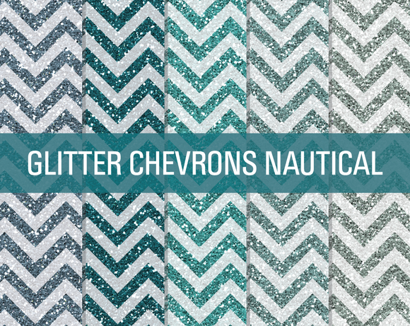 Glitter Chevron Textures Nautical