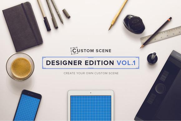 Designer Ed. Vol. 1 - Custom Scene - Product Mockups
