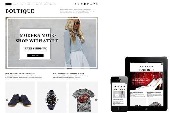 Boutique WooCommerce Theme - Commerce