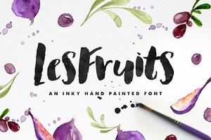 Les Fruits Brush Font