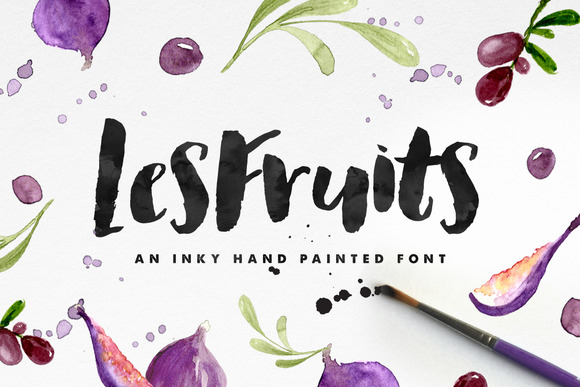Les Fruits Brush Font ~ Display Fonts on Creative Market