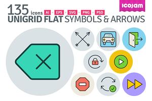 UniGrid Flat Symbols & Arrows