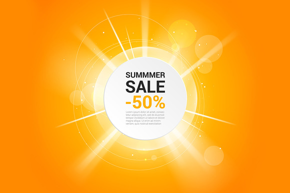 Summer sale vector banner ~ Flyer Templates on Creative Market