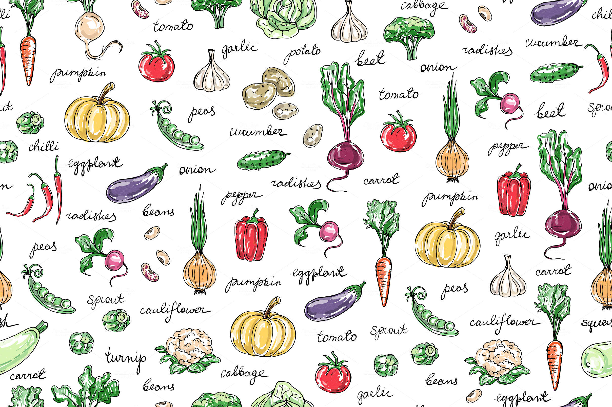 Vegetable pattern - photo#24