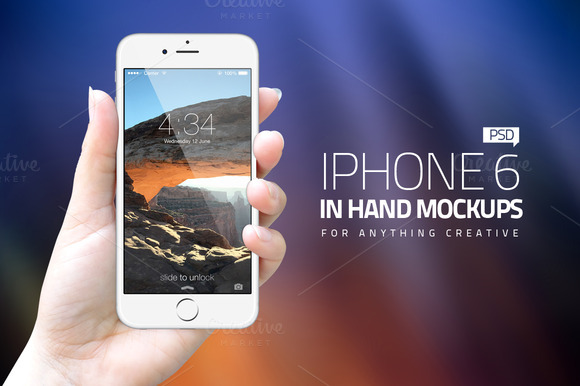 IPhone6 In Hand Mockups