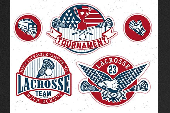 Set Of Vintage Lacrosse Labels