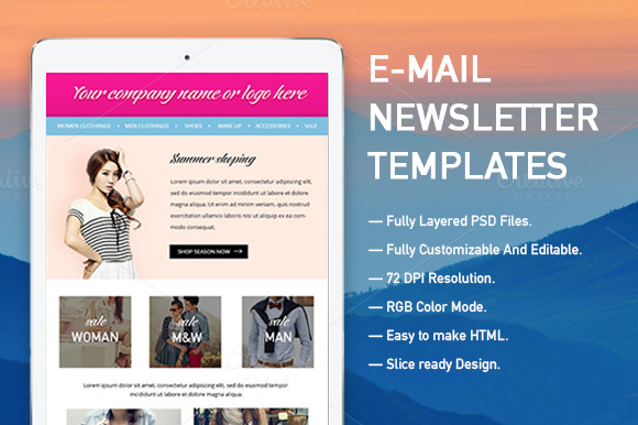 e mail newsletter templates email templates on creative market