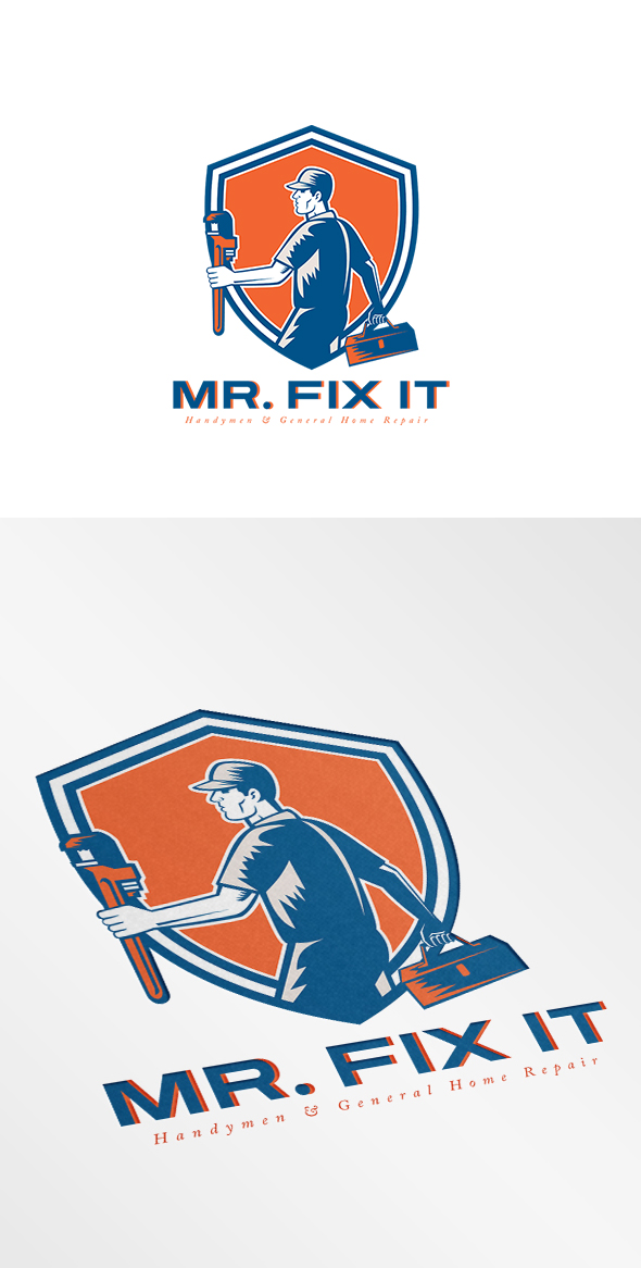 Mr Fix It General Home Repair Logo Logo Templates On