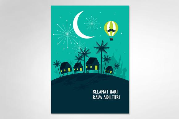 Hari Raya Balik Kampung Template Illustrations On