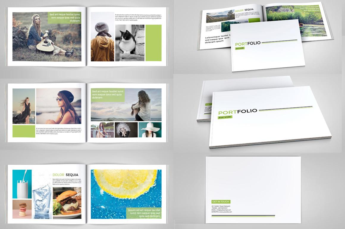 indesign portfolio brochure v127 brochure templates on creative market. Black Bedroom Furniture Sets. Home Design Ideas