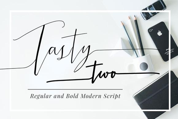 Tastytwo modern script typeface script fonts on Modern script font