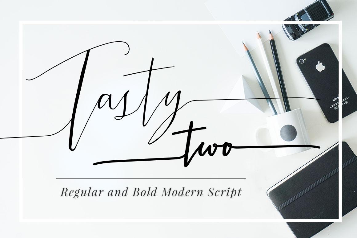 Tastytwo Modern Script Typeface Script Fonts On