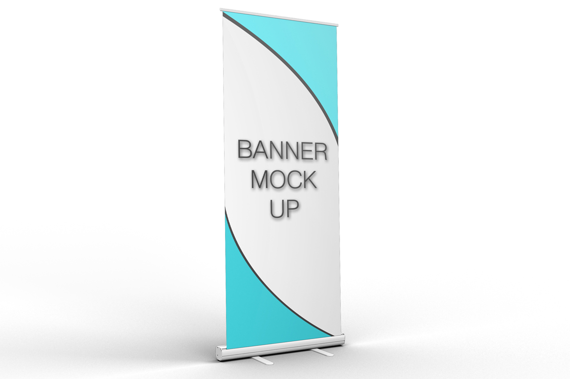 Pull-Up Banner Stand Mock-Up ~ Product Mockups on Creative ...