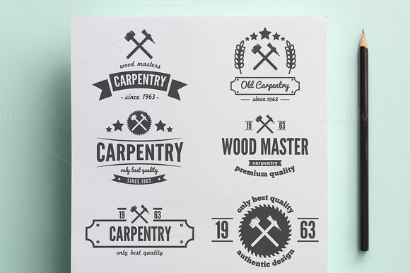 Vintage carpenter logo
