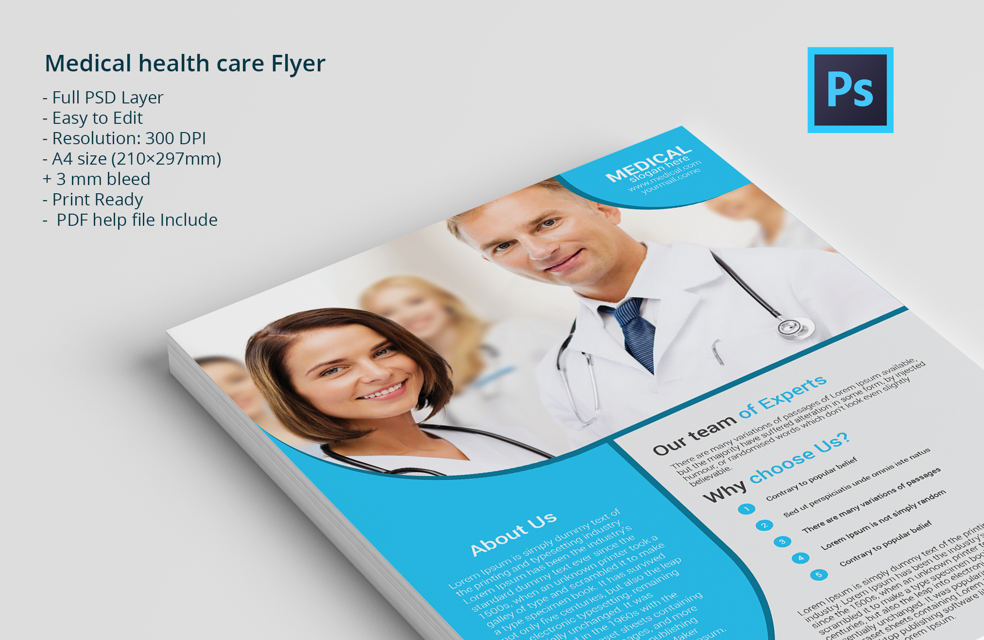 health brochure templates - medical health care flyer flyer templates on creative market