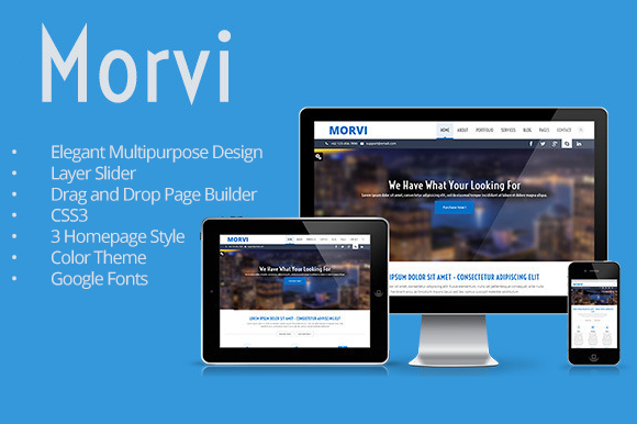 Morvi Wordpress Portfolio Theme