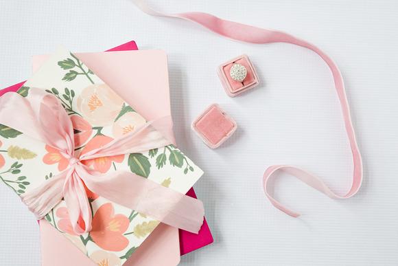 Styled Stock Photo Pink Ribbon
