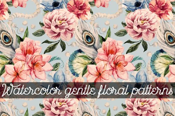 Watercolor Gentle Floral Patterns