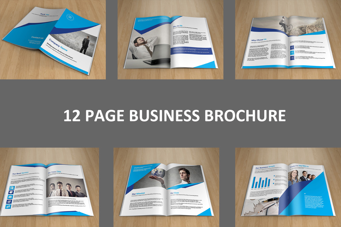 12 page brochure template indesign business brochure v128 brochure templates on