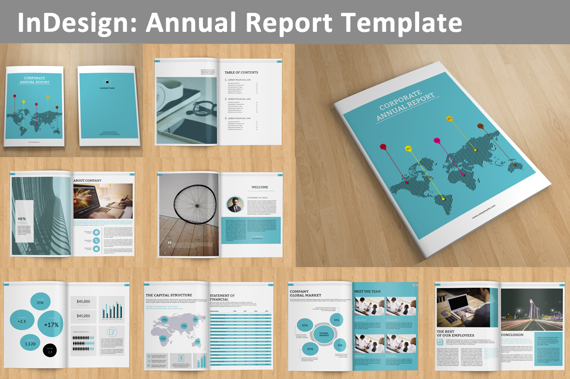 adobe brochure templates - annual report v129 brochure templates on creative market